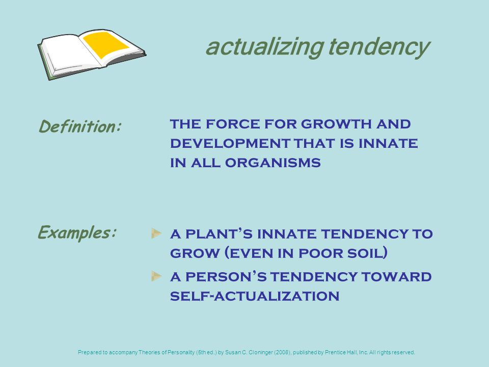 organismic valuing process The theory shows how the organismic valuing process will automatically lead to  the actualization of positive changes in psychological well-being, through the.