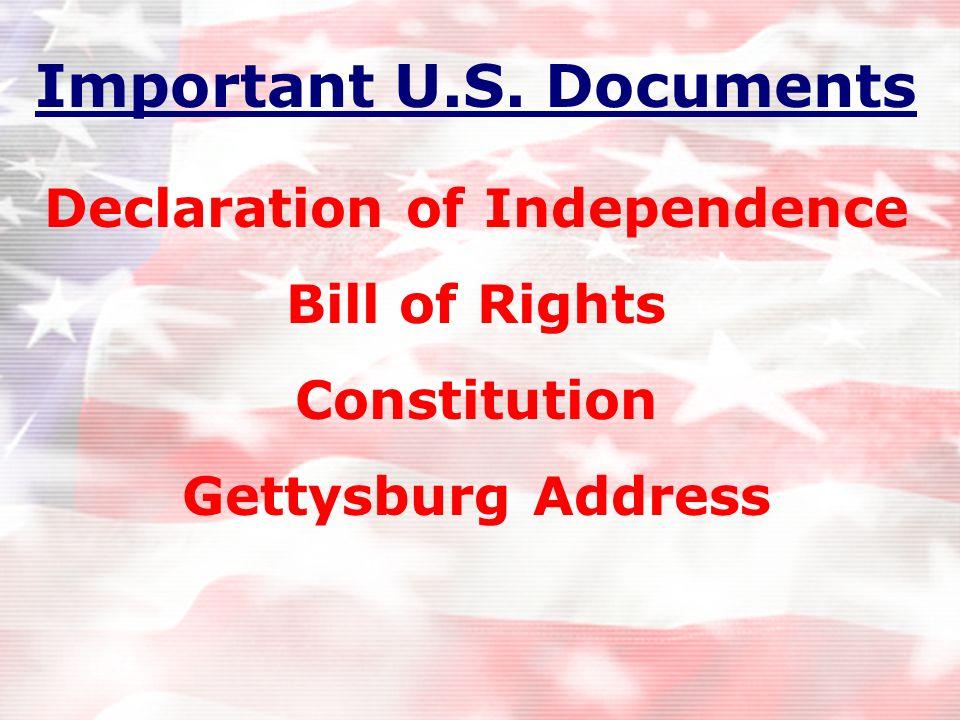 Important U.S. Documents