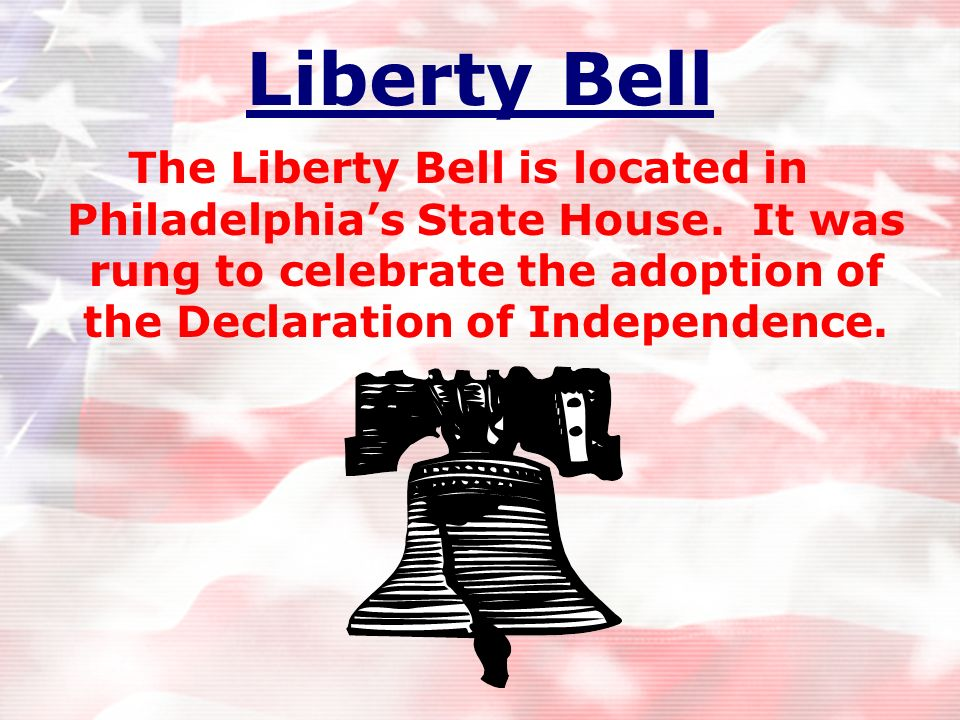 Liberty Bell The Liberty Bell is located in Philadelphia's State House.