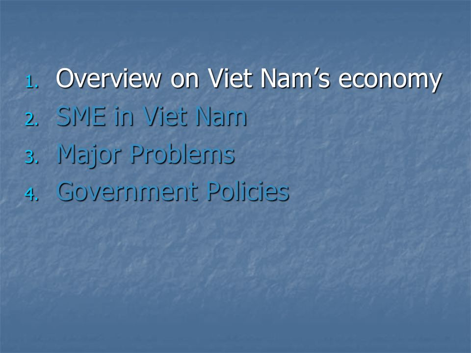 Overview on Viet Nam's economy