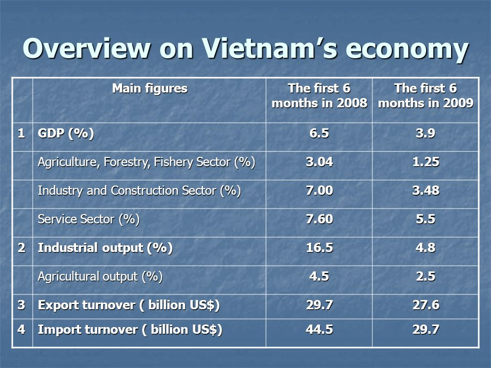 Overview on Vietnam's economy