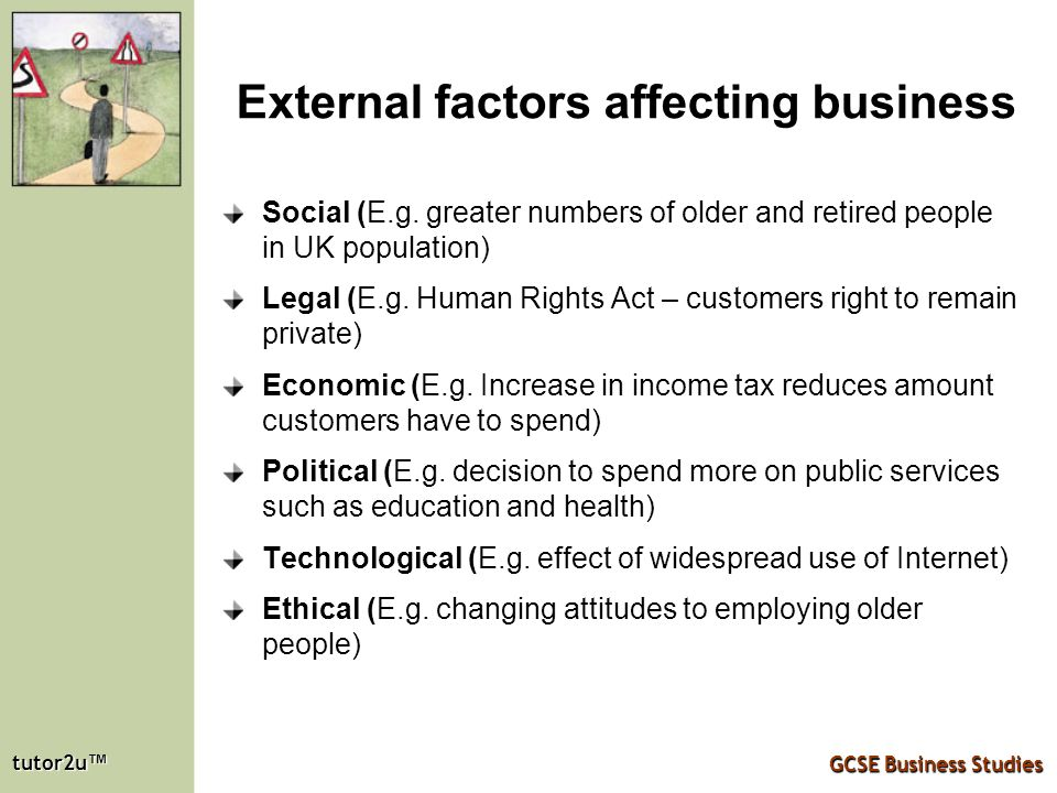 external factors affecting business What are internal & external environmental factors that affect business by belinda tucker - updated june 28, 2018 it might appear that big and small corporate players are sailing along.