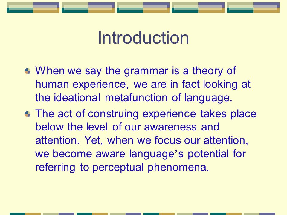 Systemic functional grammar