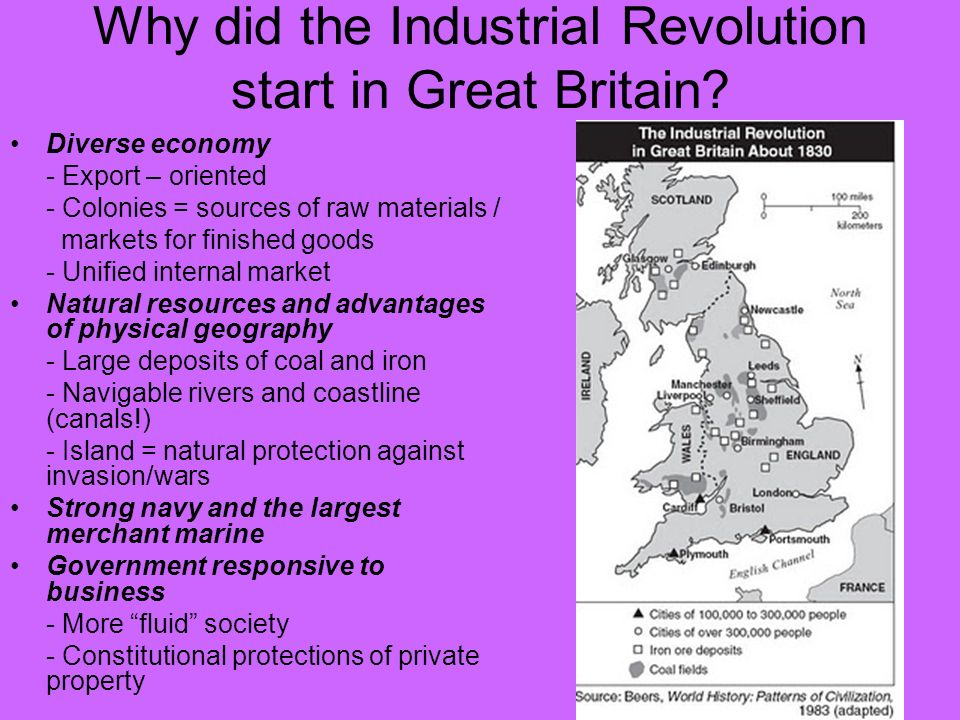 the industrial revolution in great britain The industrial revolution was invented in britain in the eighteenth century  because that was where it paid to invent it britain's success in.