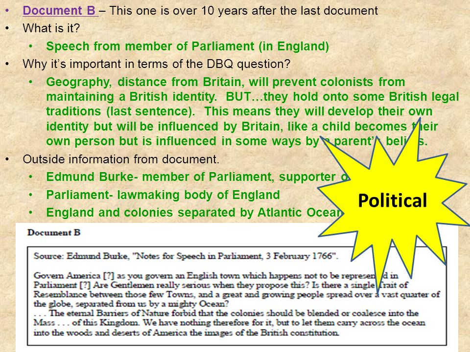 Document B – This one is over 10 years after the last document