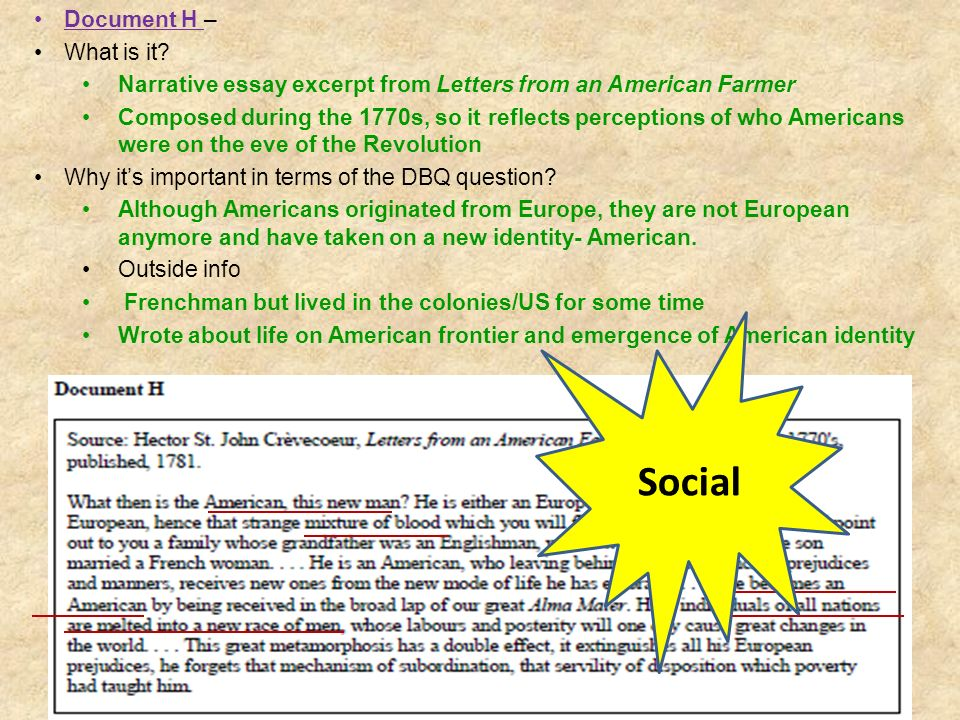 Social Document H – What is it