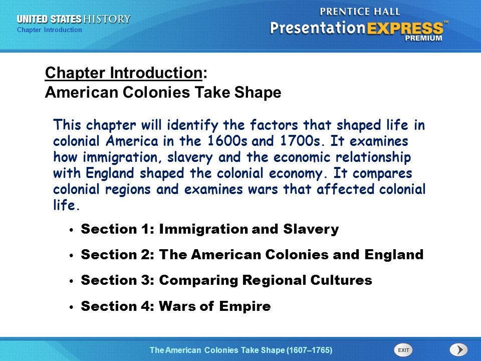 factors that shaped colonial america Essential knowledge for unit 4 (usi5) colonial america demonstrate knowledge of the factors that shaped colonial america by a) describing the religious and economic events and conditions.