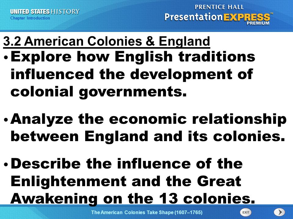 relationship between england american colonies