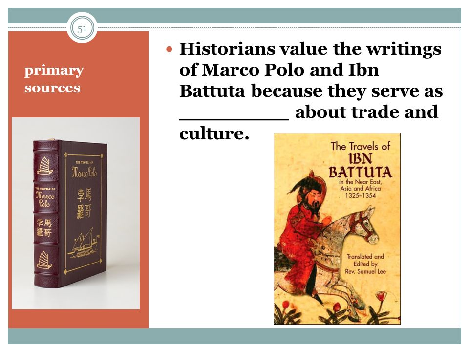 marco polo & ibn battuta essay Writings of both marco polo and ibn battuta give accounts of early world travel and exploration  more about biography of marco polo essay ferdinand marcos 2329.