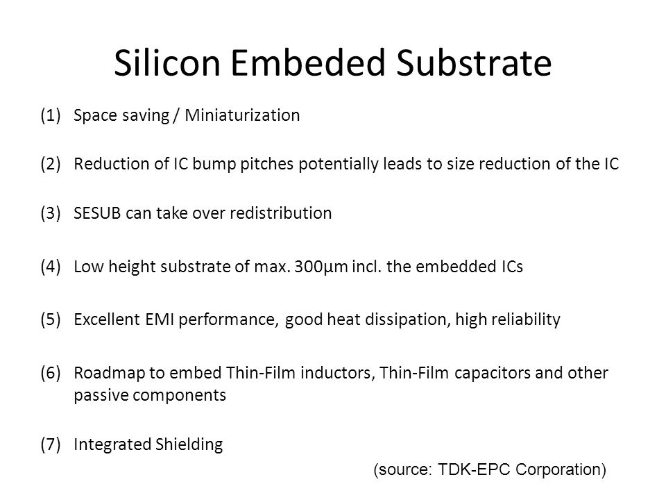 Silicon Embeded Substrate