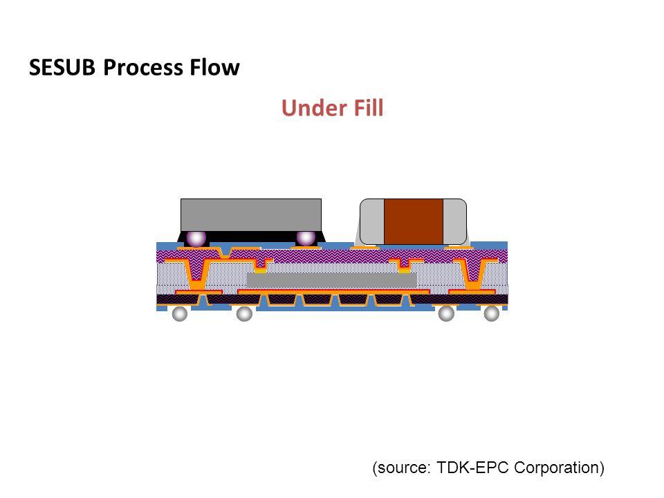 SESUB Process Flow Under Fill SMT & CSP Mount Solder Ball Attach