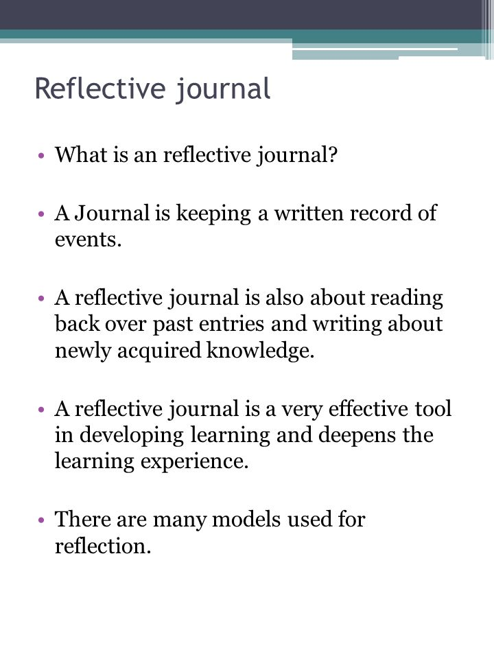 Reflective Journal Ppt Video Online Download