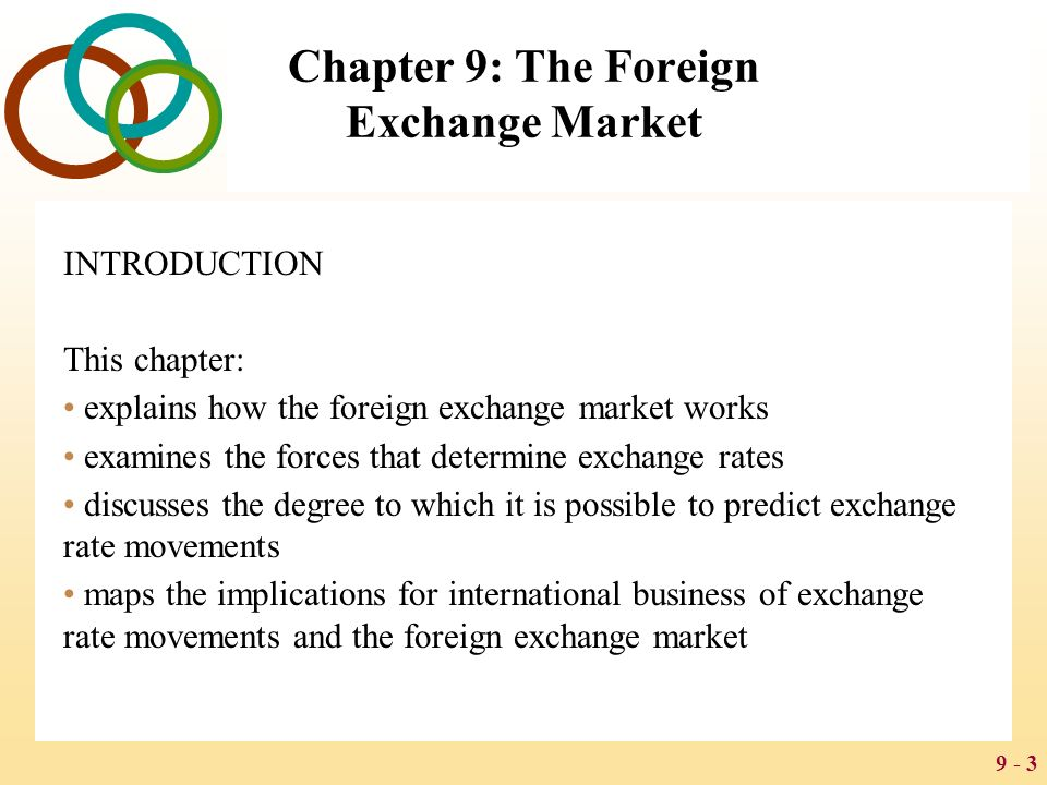 Introduction to foreign exchange market