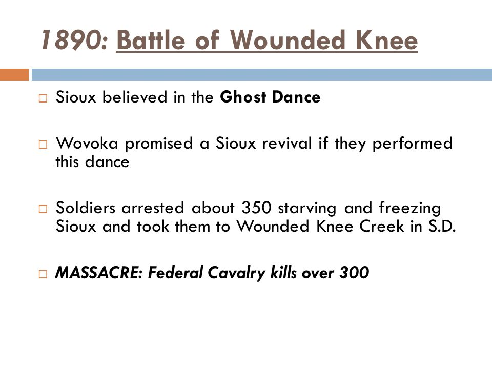 an introduction to the ghost dance and battle of wounded knee The indians that were killed at wounded knee committed no crime on their  the  ghost dance movement resulted in a massacre at wounded knee which had   characters introduction dee brown's bury my heart at wounded knee was first.
