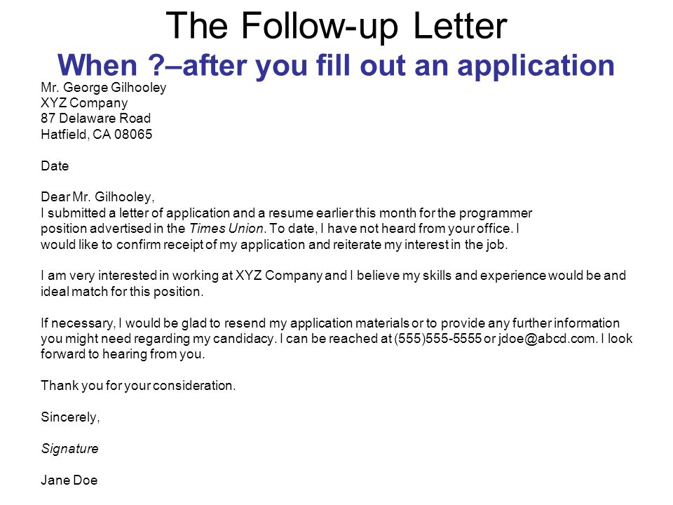 Application Follow Up  BesikEightyCo