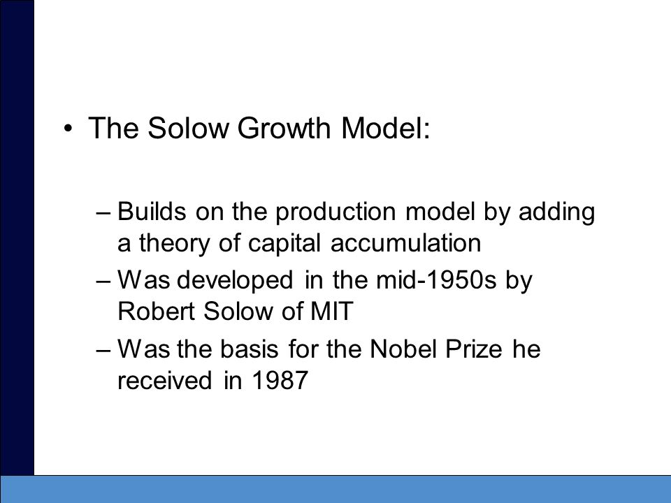 solow growth model essay Scale in capital and labor and the model mould become more  r m solow, a  note on price level and interest rate in a growth model  been expressed by  william vickrey in his essay in post-keynesian economics ed.
