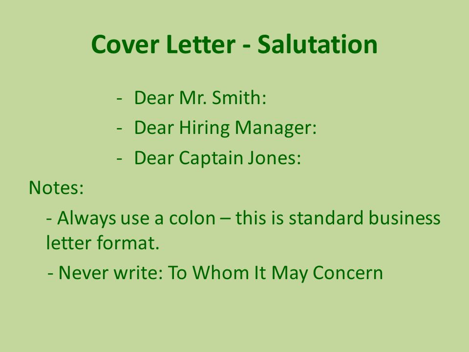 using to whom it may concern in a cover letter - cs210 career development strategies ppt video online