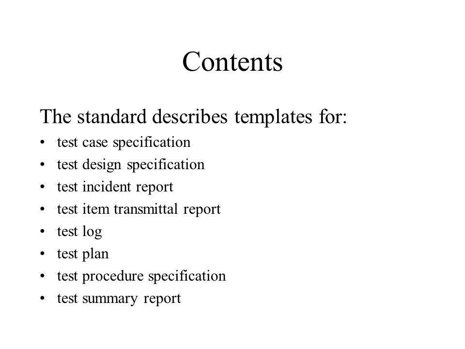 IEEE Standard for Software Test Documentation - ppt download