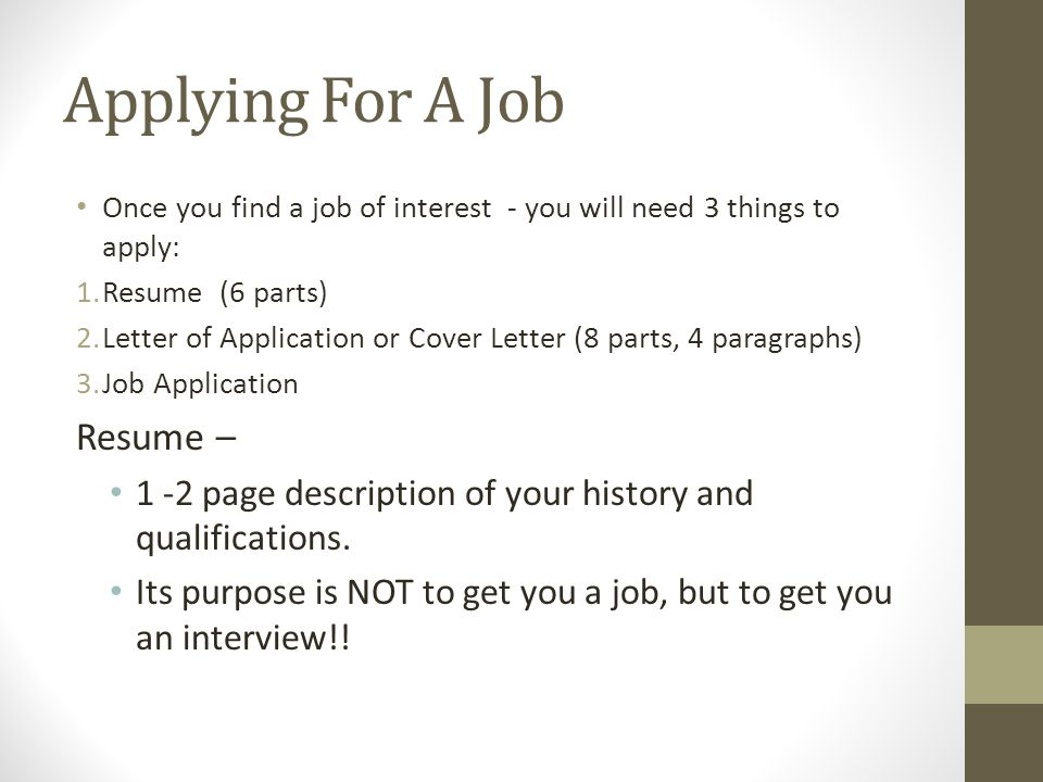 Applying for a job resume ppt download for What is a covering letter when applying for a job
