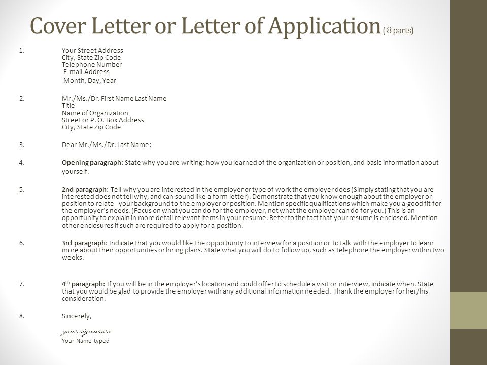 i was referred to you by cover letter - applying for a job resume ppt download