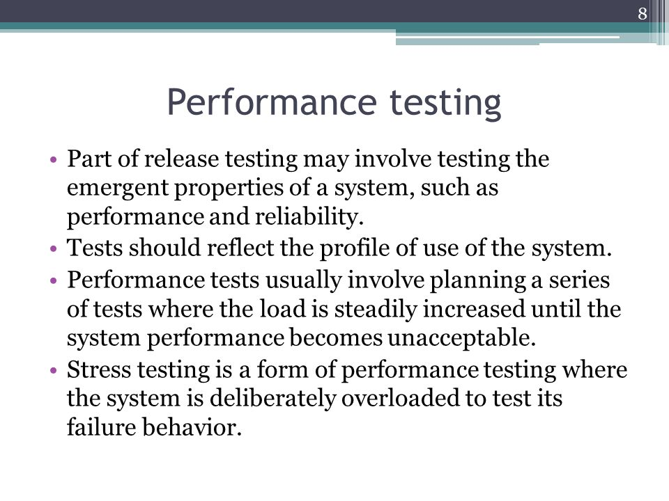 system performance properties
