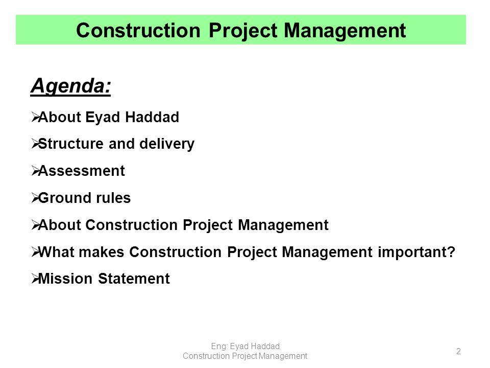 Construction project management ppt video online download - Project management office mission statement ...