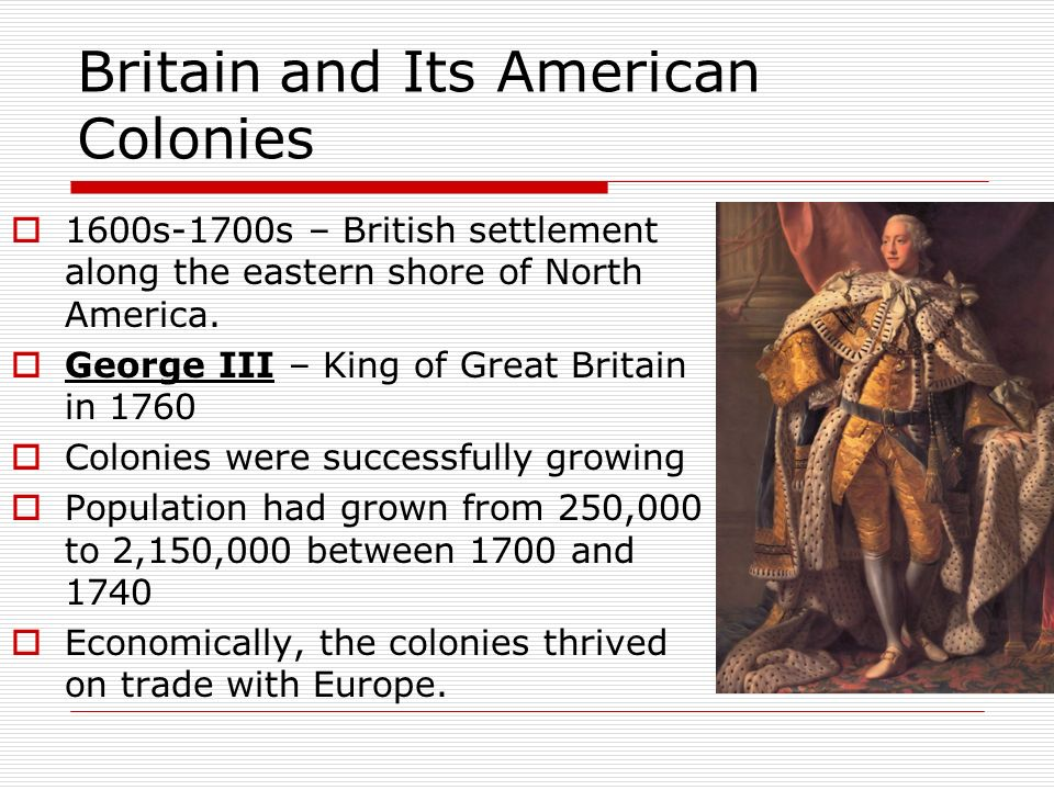 relationship with great britain and its colonies