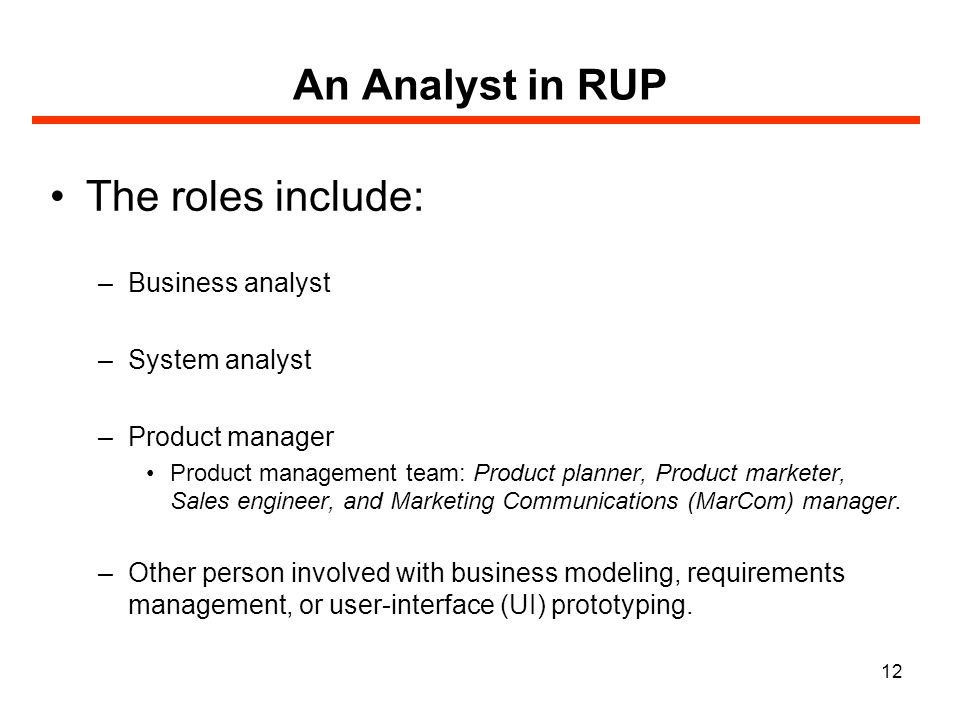 the role of system analyst