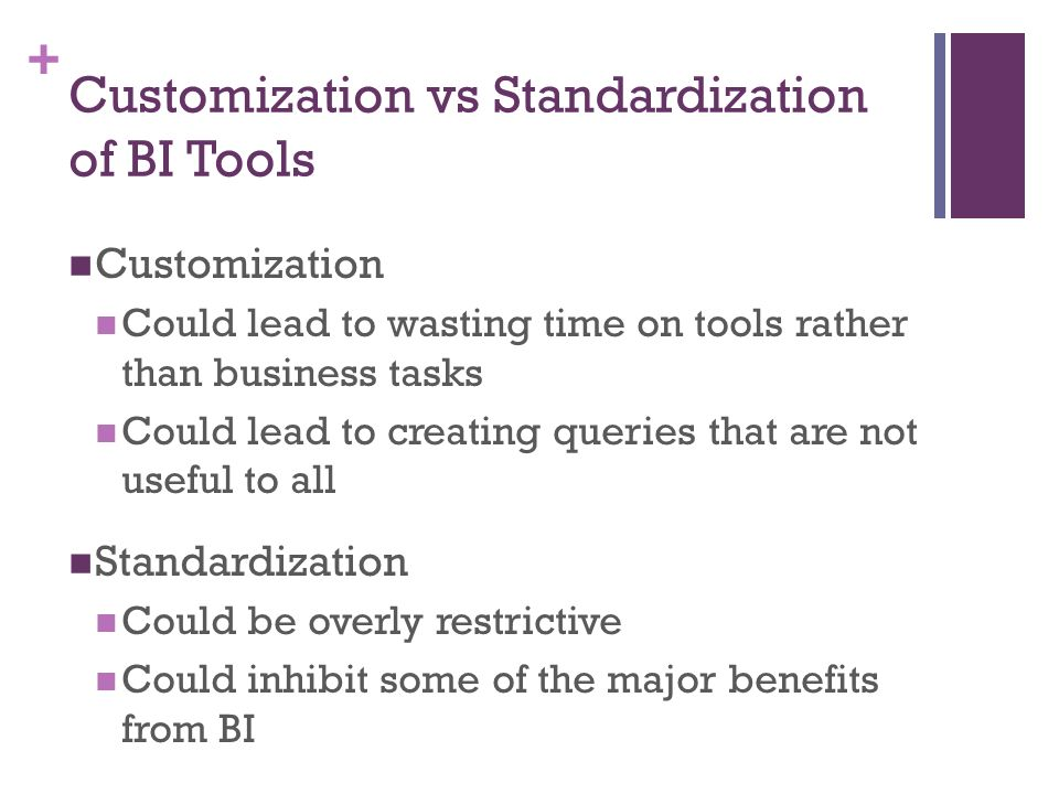 standardization versus customization Работа по теме: keller+strategic+brand+management глава: 6 balance  standardization and customization вуз: кимэп.
