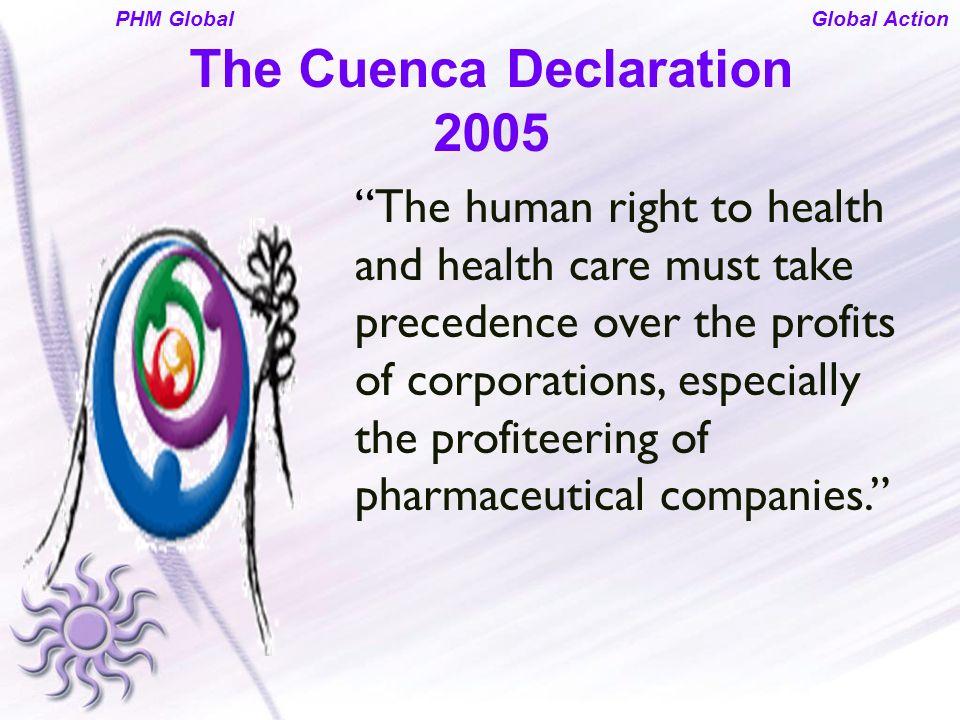 The Cuenca Declaration 2005