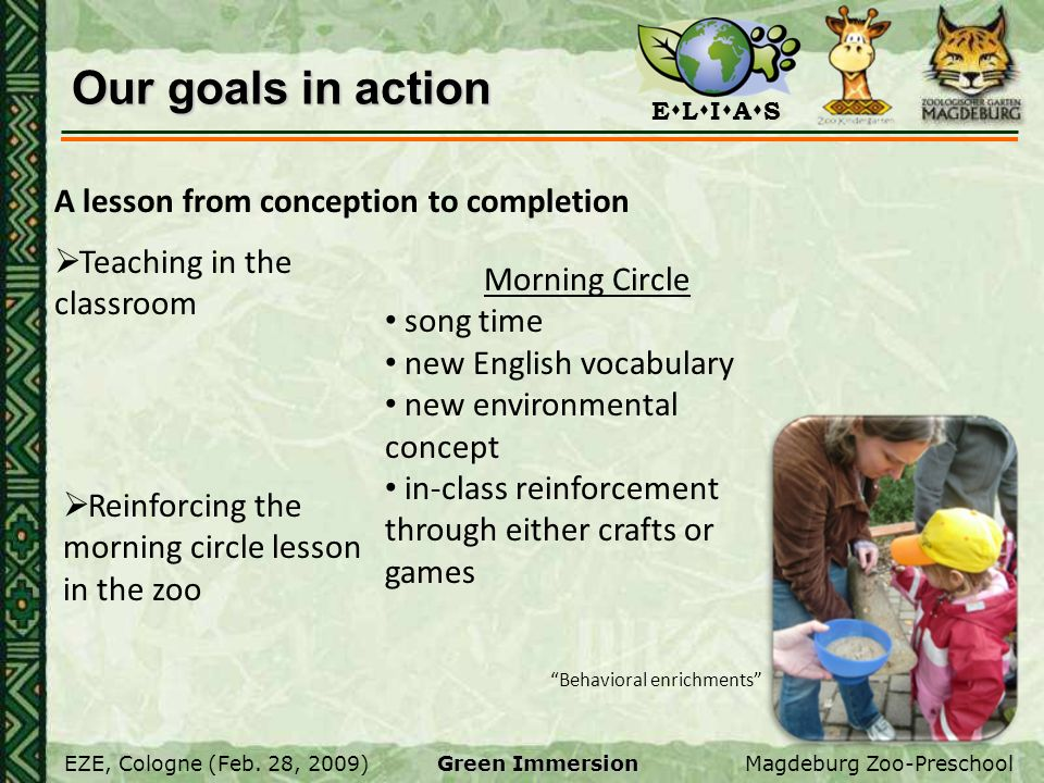 Our goals in action A lesson from conception to completion