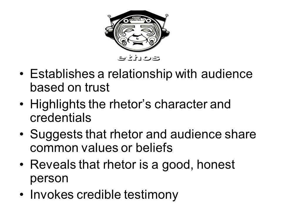 Establishes a relationship with audience based on trust