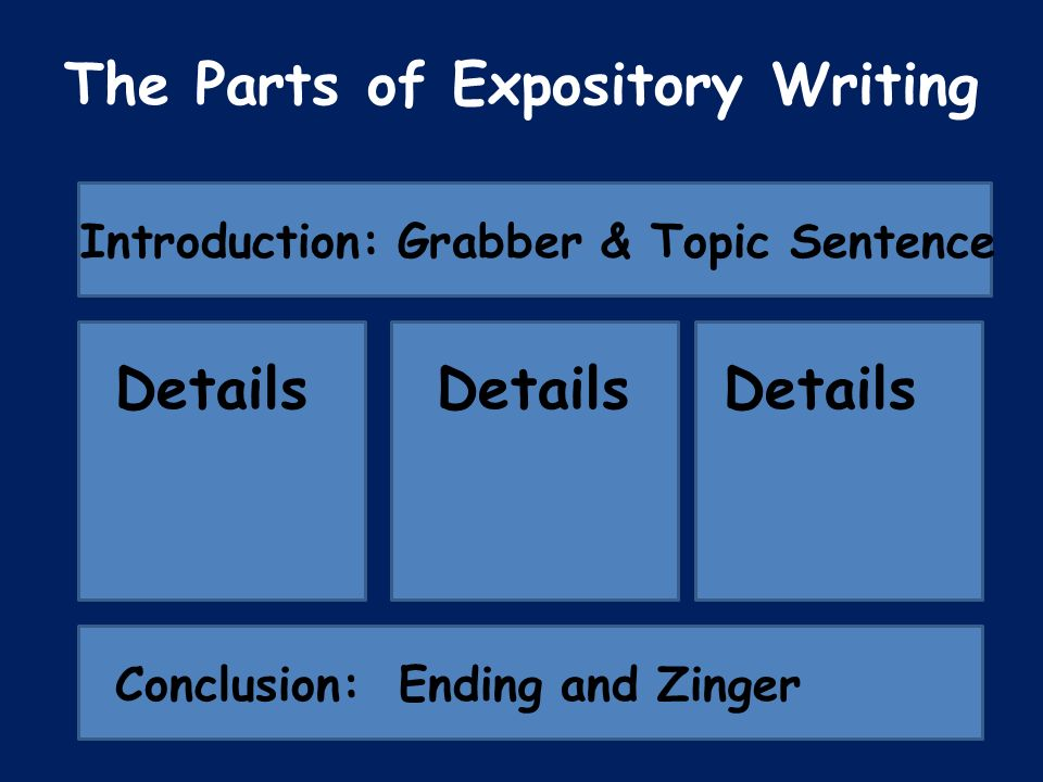parts of expository essay