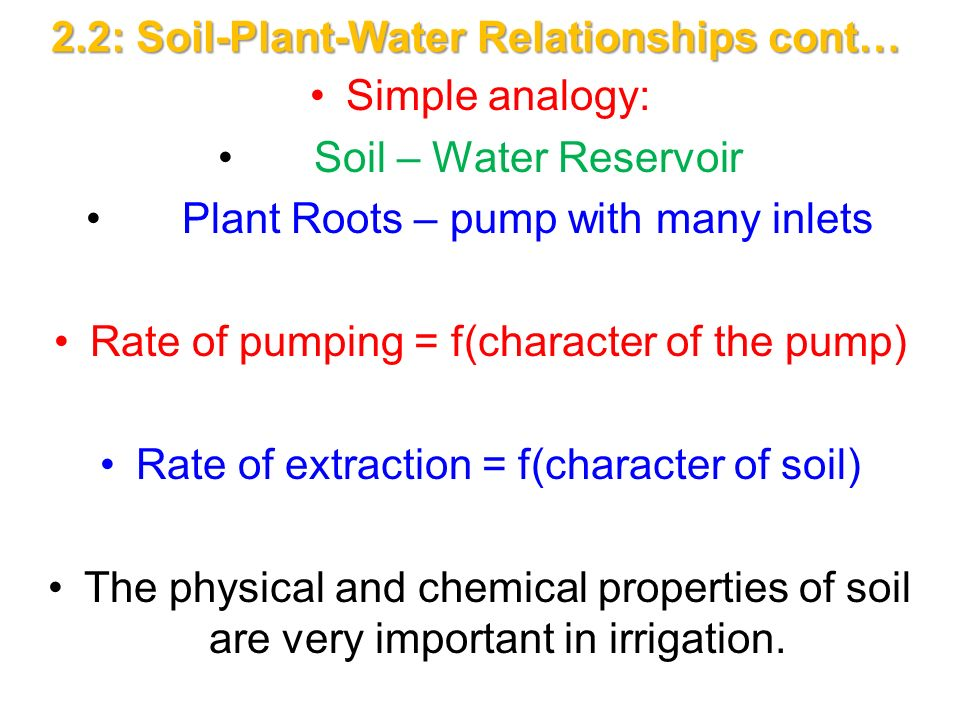 Chapter ii 2 1 planning irrigation systems ppt download for Physical and chemical properties of soil wikipedia