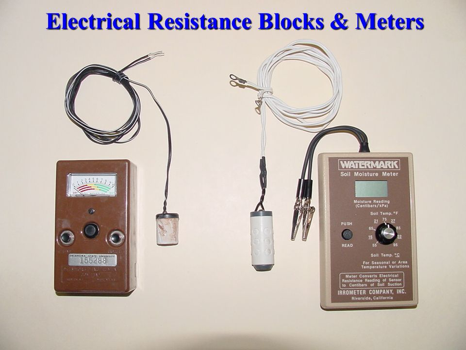 Electrical Resistance Meter : Chapter ii planning irrigation systems ppt download