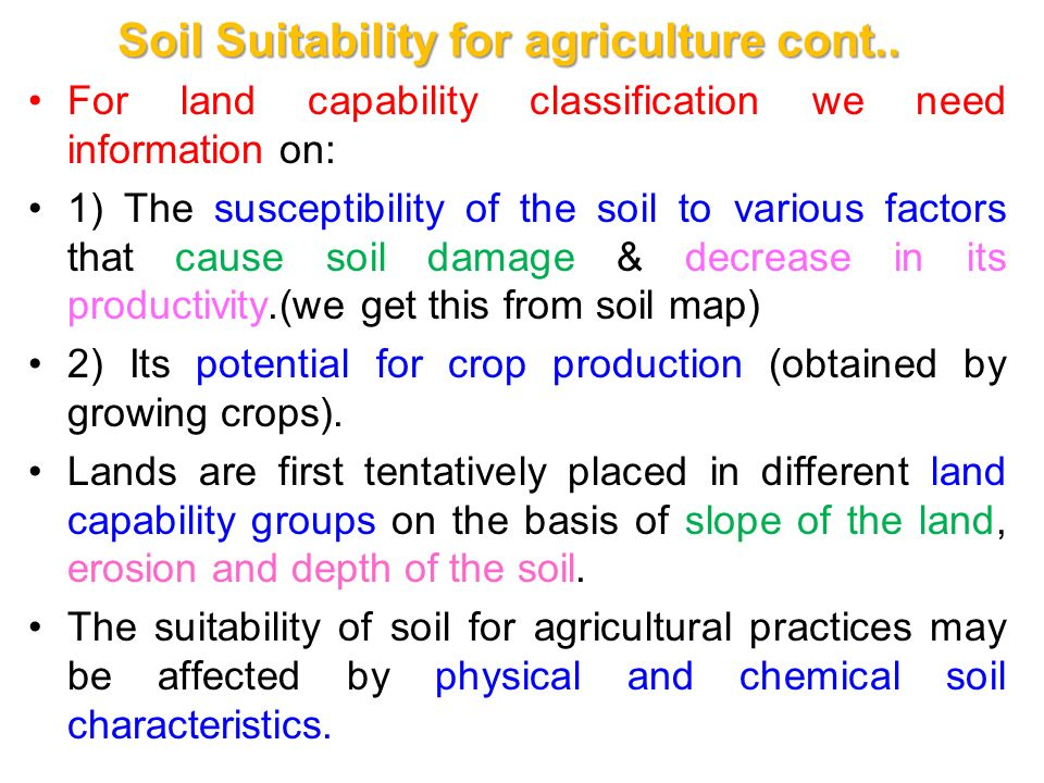Chapter ii 2 1 planning irrigation systems ppt download for What are soil characteristics