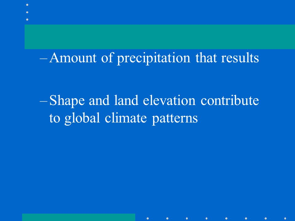 Amount of precipitation that results