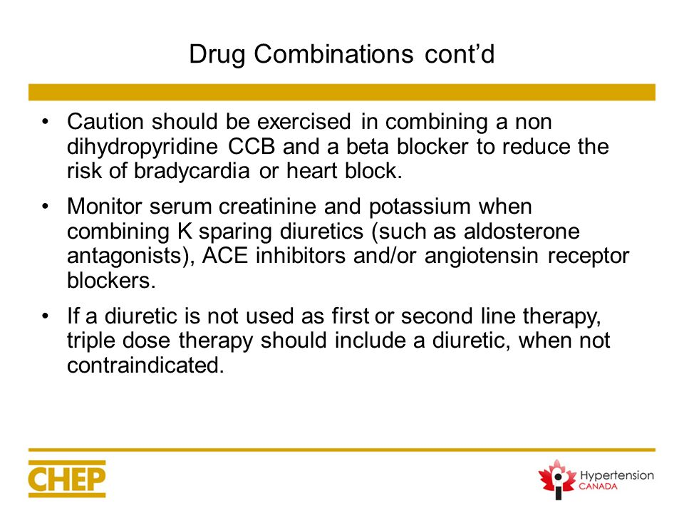 Drug Combinations cont'd