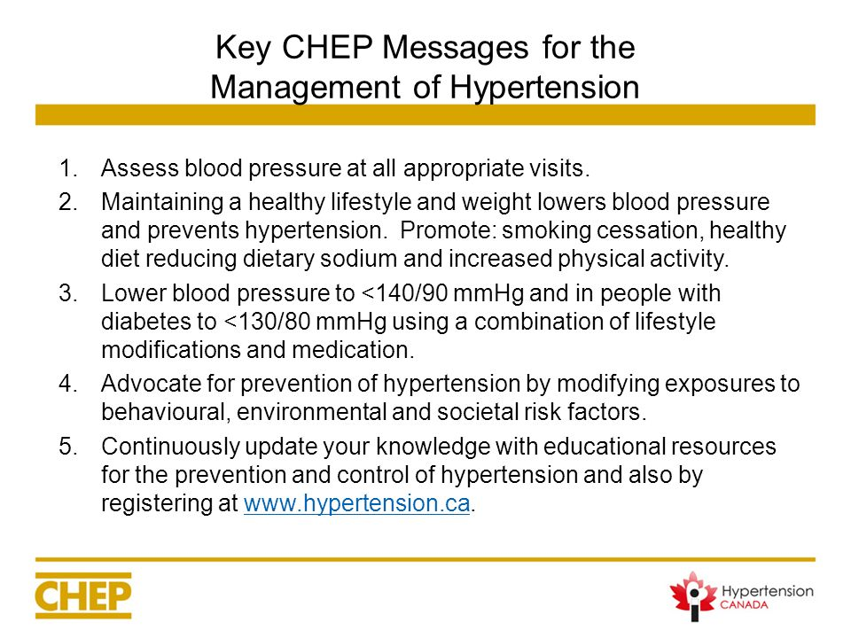 Key CHEP Messages for the Management of Hypertension