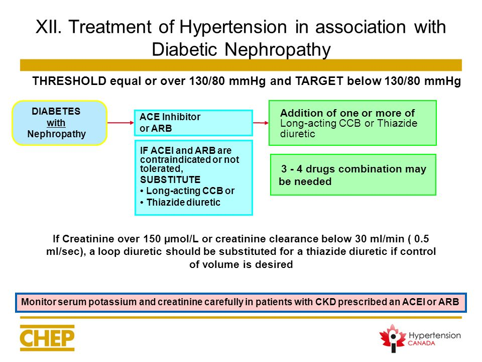 XII. Treatment of Hypertension in association with Diabetic Nephropathy