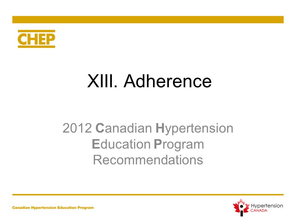 2012 Canadian Hypertension Education Program Recommendations