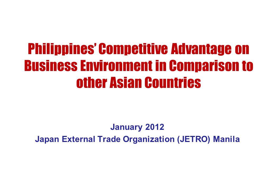 January 2012 Japan External Trade Organization (JETRO) Manila