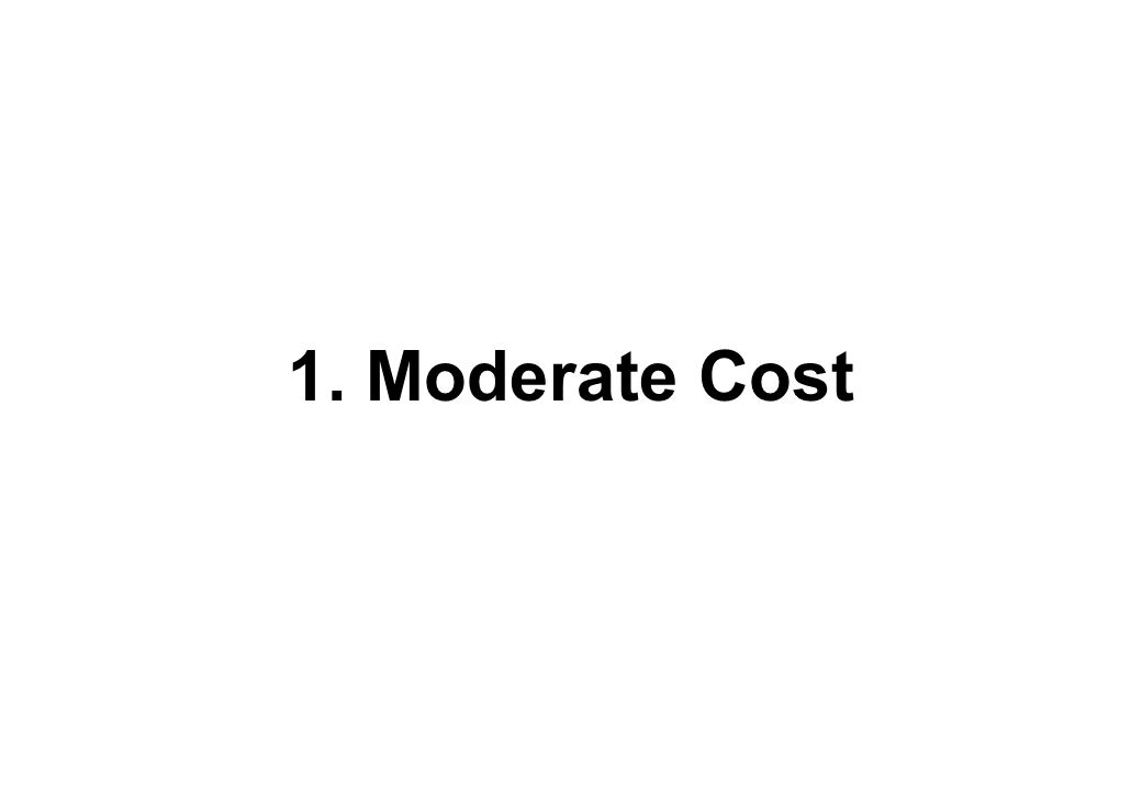 1. Moderate Cost