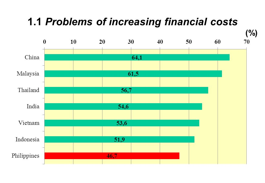1.1 Problems of increasing financial costs