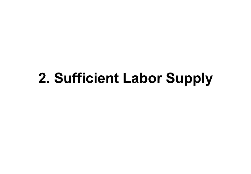 2. Sufficient Labor Supply