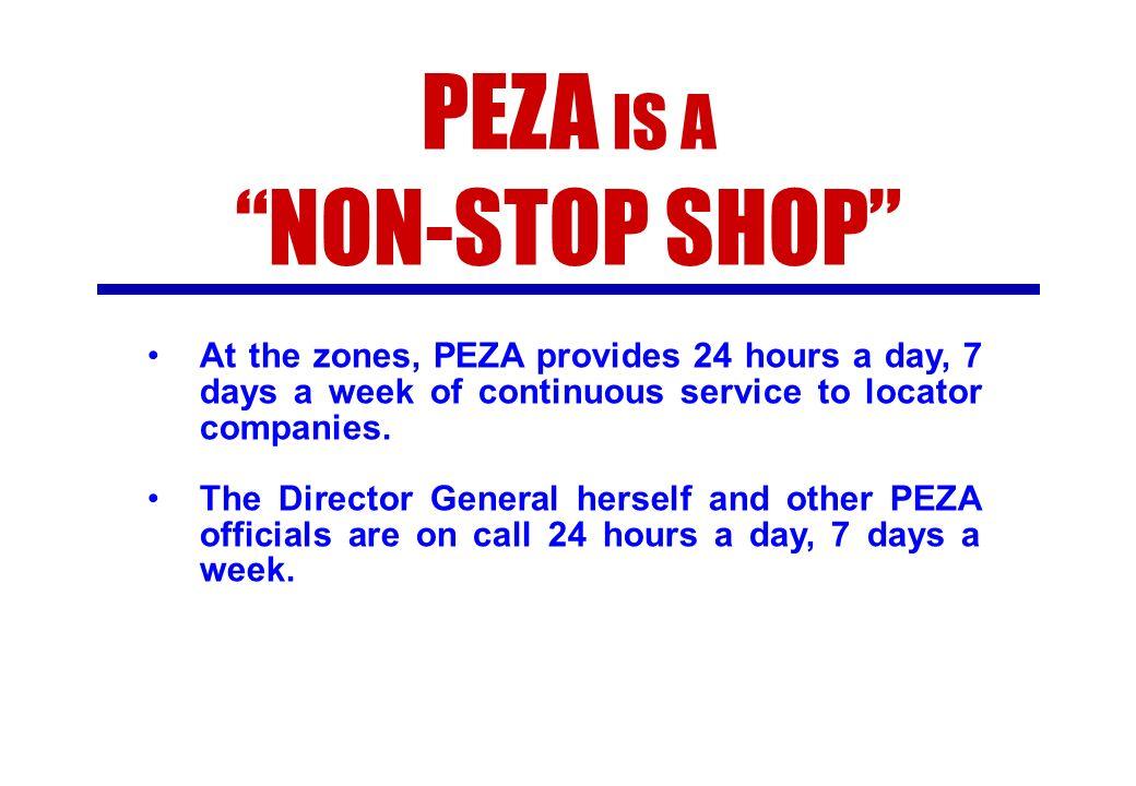 PEZA IS A NON-STOP SHOP