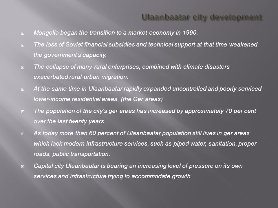Ulaanbaatar city development