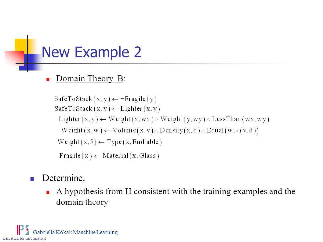 New Example 2 Determine: Domain Theory B:
