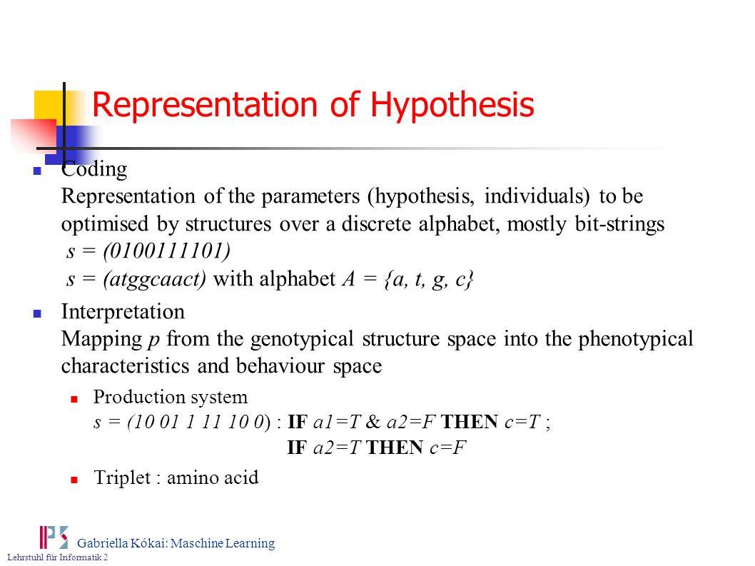 Representation of Hypothesis