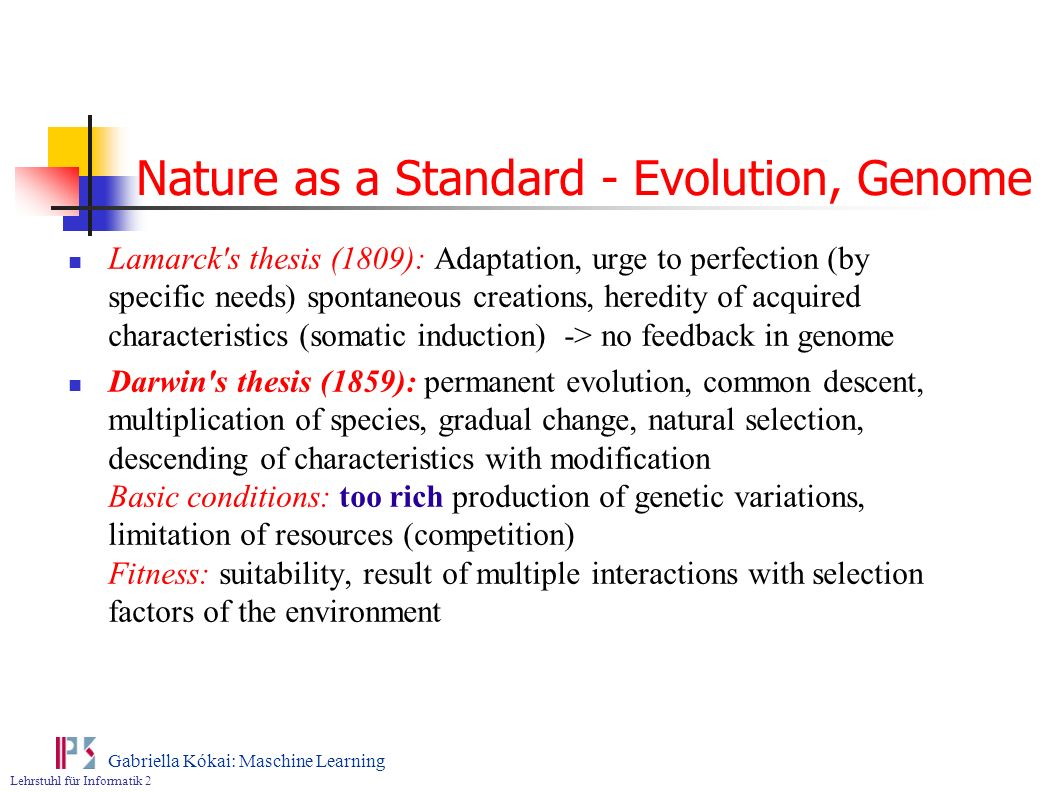 Nature as a Standard - Evolution, Genome